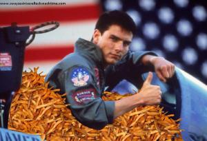 "From the oddly hilarious blog ""Swayze, Sinise, Selleck: Snacktime"""