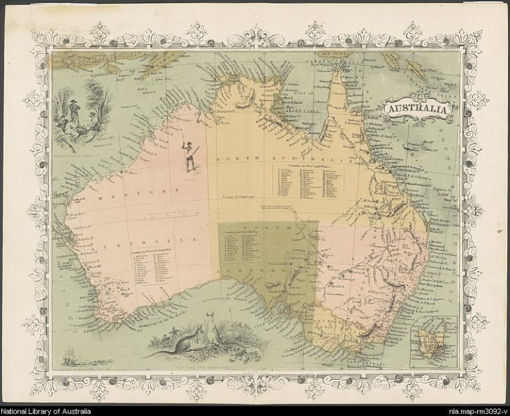 Australia [cartographic material]. 1860. MAP RM 3092. http://nla.gov.au/nla.map-rm3092